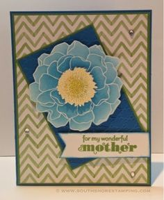 Mother's Day card using Blended Bloom from the Stampin' Up! 2014-2015 catalog by Emily Mark SU demo Greenfield Park, Quebec www.southshorestamping.com - NAC88