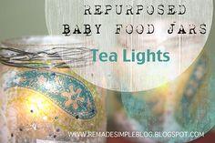 Baby food jar tea lights