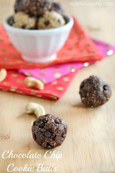 Chocolate Chip Cookie Balls {Vegan, Gluten Free}