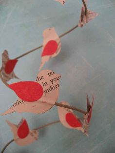 Birds on a wire garland... make this