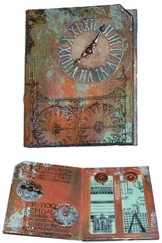 Faux Patina on paper or cardboard.