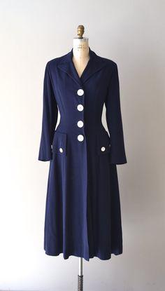 ~1940s Navy Wool Coat~