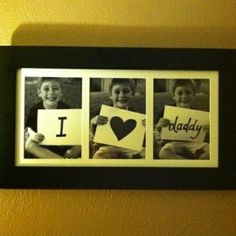 Great Father's Day Gift idea. If you have multiple kids you could have one in each picture. Would be really cool to do one each year and watch your kids age.