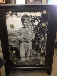Decoupaged Dresser - In Memory of My Father