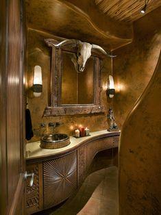 Bess Jones Interiors's Design | Western Rustic Bathroom Design