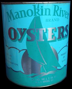 Manokin River Brand Oyster Tin