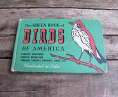 vintage 1940s Green Book of Birds // field by MouseTrapVintage, $16.00