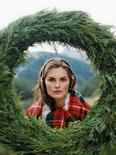 Wreath and Plaid