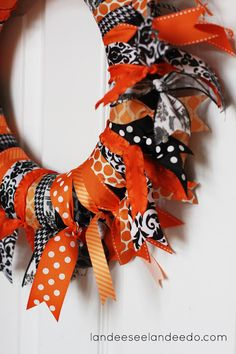 Halloween ribbon wreath