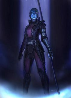 via Twitter Andy Park ‏@andyparkart  And another #Nebula from @Guardians I painted during the concept phase. #GuardiansOfTheGalaxy #marvel #TooMuchFun  Related @i09  Guardians Of The Galaxy Art Shows The Kick-Ass Gamora We Could Have Had  http://io9.com/guardians-of-the-galaxy-art-shows-the-kick-ass-gamora-w-1627194765