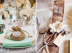 {Wedding Trends} : Burlap - a touch of rustic charm - Belle the Magazine . The Wedding Blog For The Sophisticated Bride