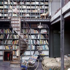 floor to ceiling books AND a spiral staircase = heaven