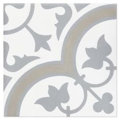 Villa Lagoon Tile Tulips B Vintage (PS) 7-7/8 in. x 7-7/8 in. Cement Handmade Floor and Wall Tile-SB20SQ16-TULP2-S7-PS - The Home Depot