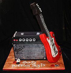cake idea, chris birthday, guitar cakes, guitar birthday cake, rocker cake