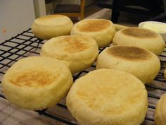 Homemade English Muffins- The Happy Housewife
