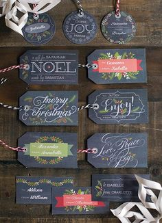 20 different printable labels!