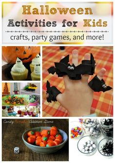 Simple Halloween activities for kids -- crafts, party games, and more!