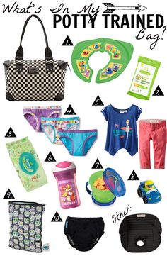 """What's in my  """"Potty Trained"""" Diaper Bag?"""