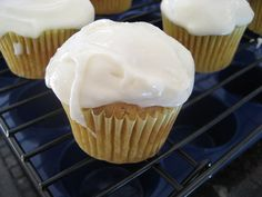 Banana Daiquiri Cupcakes with Rum Frosting (Spiced Rum) More