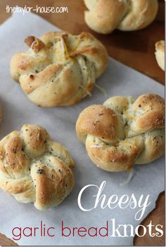 Homemade Cheesy Garlic Bread Knots they go great with pasta and spaghetti