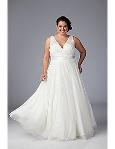 Plus size wedding gown designed by Sydney's Closet