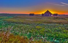 The Old Farm At Sunrise