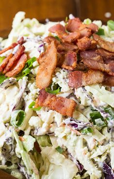 Blue Cheese Bacon Coleslaw - Spicy Southern Kitchen