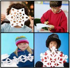 How to Make a Paper Snowflake #stepbystep