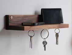 Magnetic key ring holder & shelf by MeriwetherOfMontana on Etsy