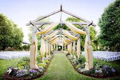 A fanciful ceremony setting  {Elmwood Gardens}