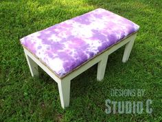 Build a bench, upholster it yourself