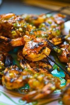 Sweet and Spicy Grille Shrimp