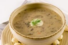 This should be what your mushroom soup may look like...yum soups, mushroomsoup, food, wild rice, dairy free, wild mushrooms, soup recipes, cream, mushroom soup