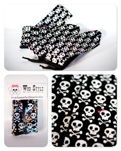 Skull wrist wraps for crossfit WOD Style etsy-thismomasews