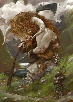 """""""The Highland Minotaur"""" - CGPortfolio - Jonny Duddle"""