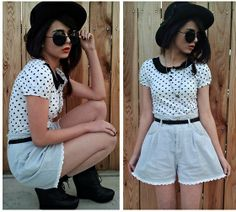 Draw me Nancy! (by Kendall C.) http://lookbook.nu/look/2801941-Draw-me-Nancy polka dots, collar, girl style