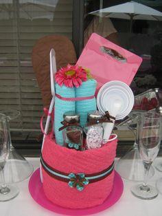 Bridal Shower Towel Cake | Bridal Shower Towel Cake.