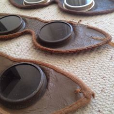 VINTAGE Sperti Leather Sunlamp Goggles Set of 3...by SnugVoyage, $20.00 on etsy Now...would make great motorcycle goggles, all they need is new elastic