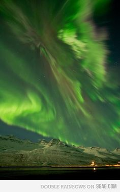 NORWAY -- no photoshop. the Northern Lights / Aurora Borealis .