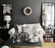 mirror, house tours, holiday, living rooms, living room ideas, christma decor, 650565 pixel, live room, christmas houses