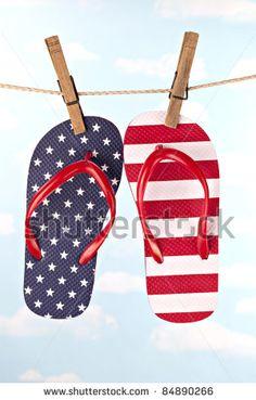 blue, flipflop, flip flop, shoe