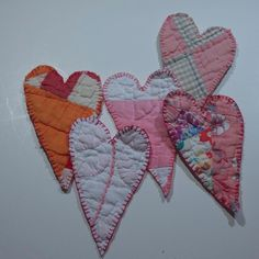 Heart vintage cutter quilt Christmas ornament by earwingsandthings