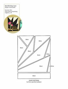 Paper Crafts & Scrapbooking November 2014 Patterns and Cut Files | Bold Birthday free pattern to make art deco card