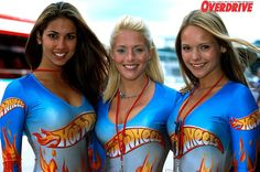 Sexy Hot Wheels pitlane and grid girls