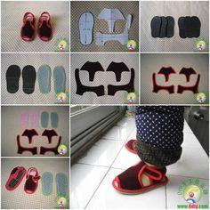 Diy baby kid shoes