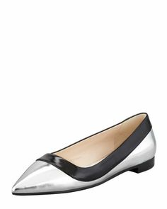 Friday, August 30th: Prada Bicolor Metallic Point-Toe Flat, 212 872 8940