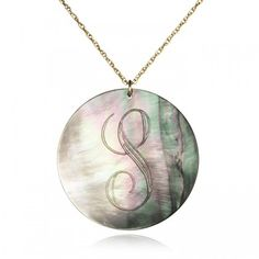love this mother of pearl personalized pendant!
