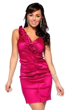 Beautiful!       http://amzn.to/HGGbVm       #Designer Inspired One Shoulder Evening Cocktail Formal Party Sexy Mini #Dress