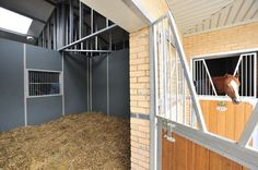 Plastic walled stables.