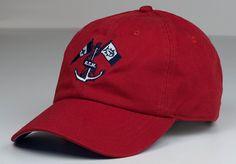 Southern Tide Anchor Skipjack Hat in Red $20 call Bella's for ordering information 229-246-1720 #SouthernTide #Skipjack